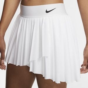 White Nike Pleated Tennis Skirt